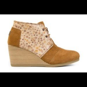 TOMS floral ankle booties